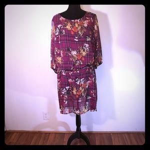 Cato Dresses - Purple floral dress